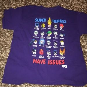 Super Heroes Have Issues Too.  Size large